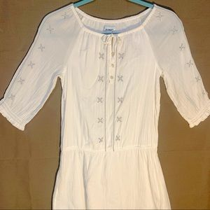 Old Navy Peasant Blouse Dress with Embroidery